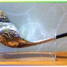 "Unique Silver-plated 19"" Rams Horn Shofar Judaica Rare"