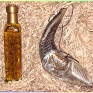 "New Oil 13"" Anointing Silver Rams Shofar Plus Bottle Of Oil In Wooden Gift Box"