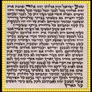 """Kabbala Judaica Jewish Ring Stainless Steel Ring Black """"Ana B'choah"""" Spinning"""