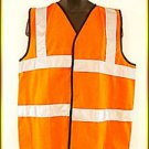 New Israeli High Visibility Neon Orange Safety Vest with Reflective Strips-IDF