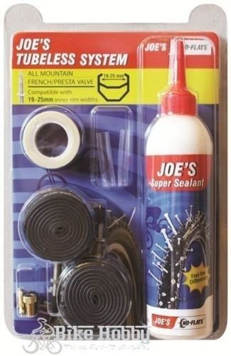 Joe's No-Flats TUBELESS SYSTEM ALL MOUNTAIN FRENCH / PRESTA VALVE,19-25 mm widt