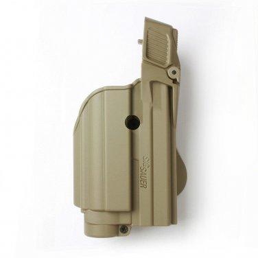 Desert Tan Tactical holster for tactical light/laser level II SIG Sauer P250 FS