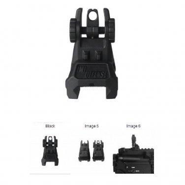 New IMI Black TRS - Tactical Rear Polymer Flip Up Sight