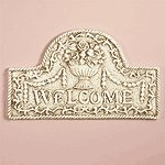 """34173 Ivory Finish """" Welcome"""" Plaque"""
