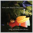 1 Luxury Christmas Greeting Card with FREE Xmas Gift Tag