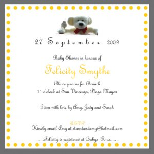 10 Baby Shower/Naming Ceremony/Christening Invitations - FREE