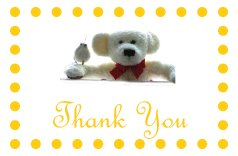 10 ThankYou Cards for Christenings/Baptisms/Naming Ceremony Invitations/Baby Showers