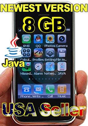 � UNLOCKED i9 iPhone style 4 Band WORLD phone 8 GB + FREE extras