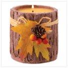 Round Bark Candle