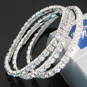 B002 vintage inspired Party Wedding SPARKING Fake Diamond BRACELET (Mod Express online accessories)