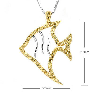 GoldFish Angelfish Yellow Sapphire Sea Animal Necklace