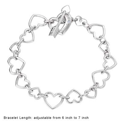 Eros LOVE CUPID Arrows Bracelet - Platinum Plated 925