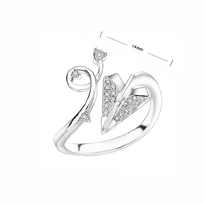 Love Cupid Arrow Aeroplan alike Fashion Diamond Ring
