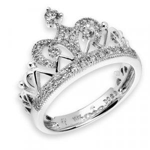 7ee000027 CROWN Prince Princess Queen Royal Tiara Diamond Ring