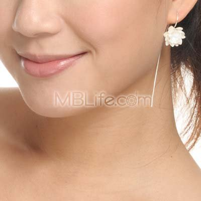 925 Silver Romantic Floral Party Wedding Retro Earring