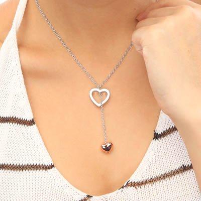 Love Heart 2 Styles Heart Wedding Gift Jewelry NECKLACE