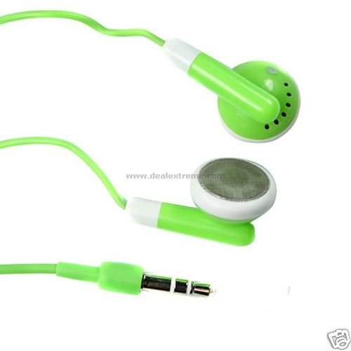 Stylish Green Stereo Earphones for iphone/ipod