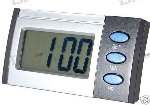 LCD Blue Backlit Talking Time Alarm Clock (English)