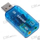 Virtual 5.1-Surround USB 2.0 External Sound Card