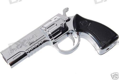 Gun Shaped Steel Butane Jet Torch Lighter