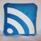 RSS Icon Pillow / blue