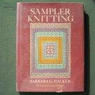 Barbara G Walker Sampler knitting Hardcover 1973