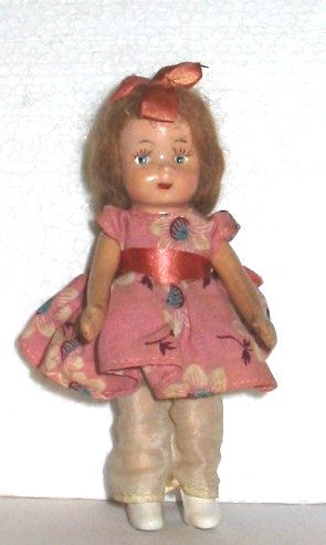 1940's 5-1/2 inch tiny composition EUGENIA doll