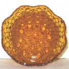 Antique Daisy and Button amber bowl