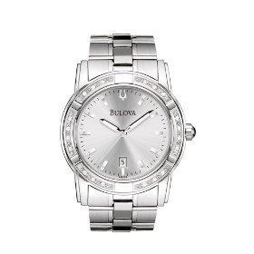 Bulova 96E103 Diamond Accented Silver Dial Men's Watch