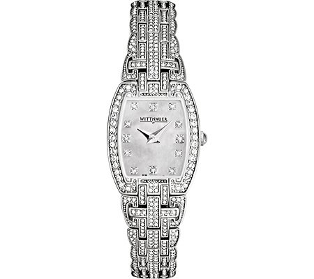 Wittnauer Bulova 10L102 Silver Crystal Women's Watch