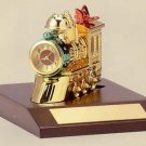 Bulova Holiday Train II Miniature Clock B0423