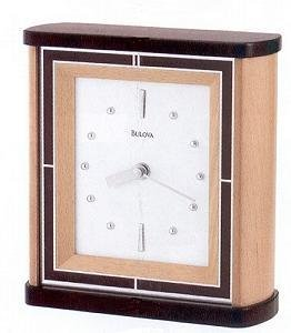 Bulova B1997 Interlude Mantel Clock Walnut Top & Bottom