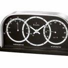 Bulova Thermometer Hygrometer Tabletop Clock B2920