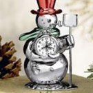 Bulova Snowman Miniature Collection Clock B0426
