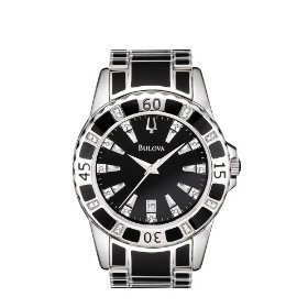 Bulova 98E107 Diamond Accented Bracelet Men's Watch