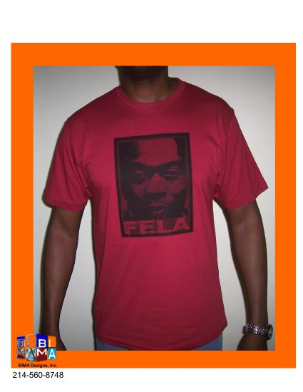 FELA FACE INDEPENDENCE RED TEE