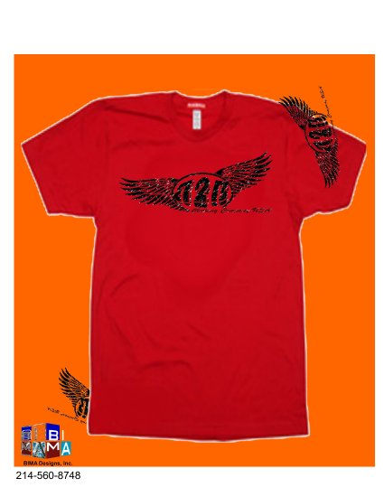 B2B WINGS INDEPENDENCE RED TEE