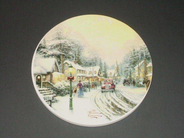 Christmas Coasters Thomas Kinkade Village Christmas