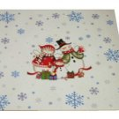Christmas Trivet Snowman Family White Ceramic