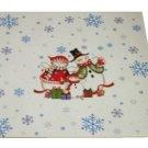 Christmas Trivet Snowman Family White Ceramic
