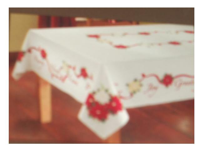 Floral Christmas Fabric Tablecloth