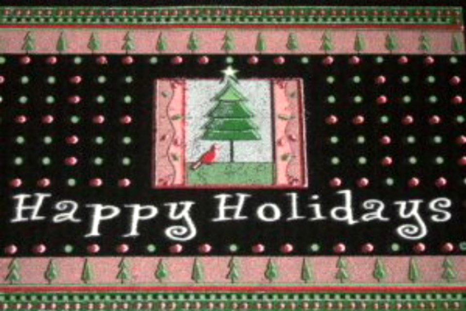 Christmas Rug Happy Holidays Door Mat