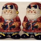 Christmas Stitched Santa Salt Pepper Shakers