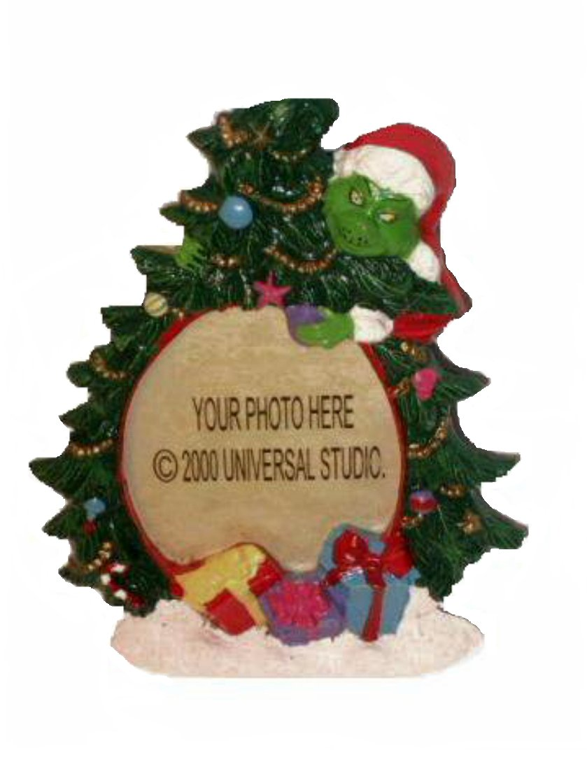 Christmas Grinch Photo Frame Holiday Decor