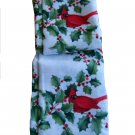 Christmas Tablecloth Holly Berries Cardinals