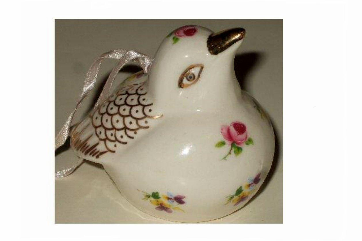 White Bird Figurine Christmas Ornament