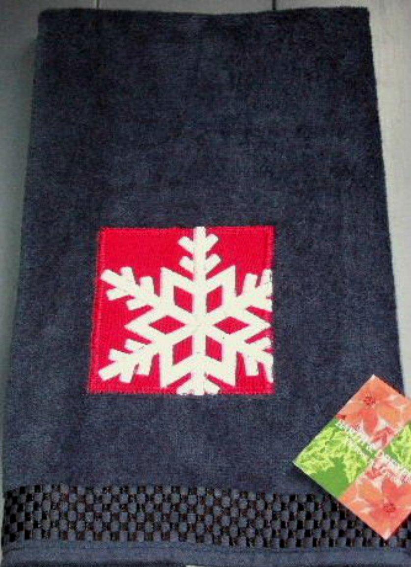 Christmas Snowflake Hand Towels Barth and Dreyfuss