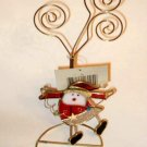 Christmas Card  Photo Holder Stained Glass Santa