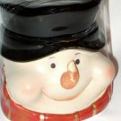 Snowman Mini Cookie Jar Candy Canister