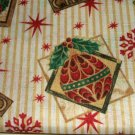 Christmas Fabric Tablecloth Trim A Home Stars Snowflakes Ornaments